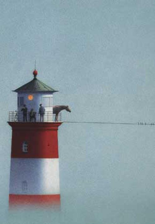 Lighthouse. Quint Buchholz. Postcard. Collection of www.postersquare.com