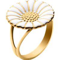 DAISY ring - forgyldt sterlingsølv med emalje