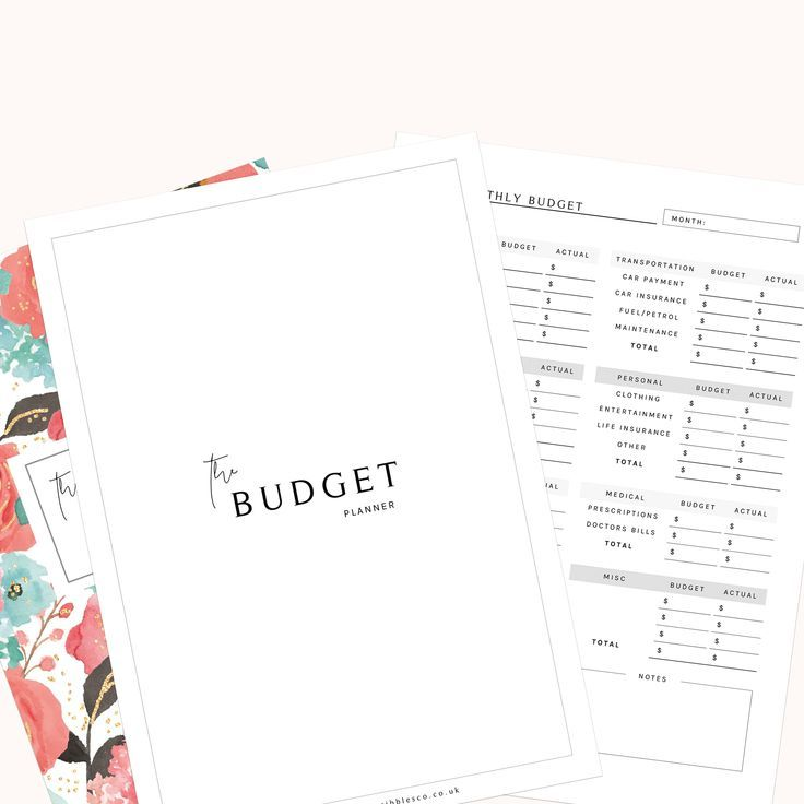 Finance Planner Budget Planner Printable Financial Planner