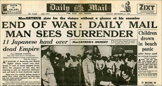All sizes | Japan surrenders 1945 | Flickr - Photo Sharing!