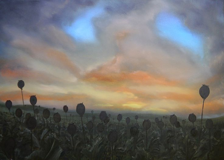Poppy field,  Paul Brown BA(Hons) Fine Art - Oil Painting