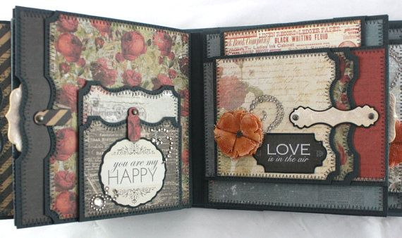 6x6 One Love Scrapbook Mini-Album PDF Tutorial by SoMuchScrap