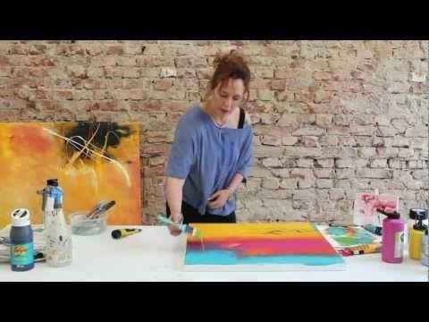 Kleines Übungs-Tutorial: Einfache Farbverläufe in Acryl mit dem neuen Pinsel ;) by zAcheR-fineT - YouTube