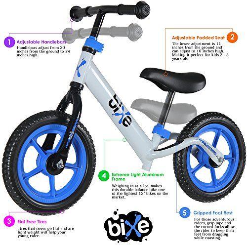 Three Wheel Kids Balance Bike No Pedal Bicycle Ride Toy Push Toddler Children
