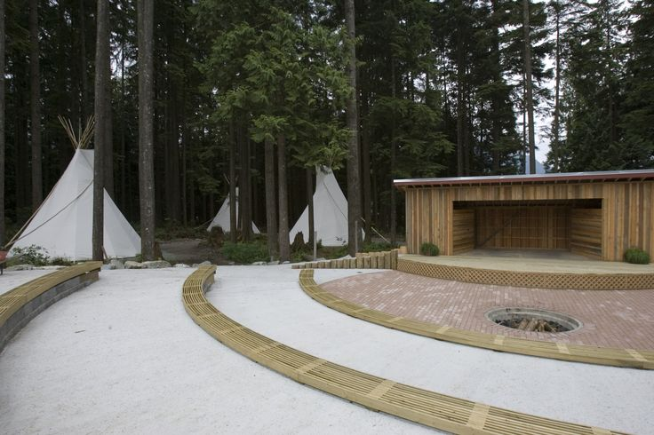 Ampitheatre and Teepees - Perfect outdoor wedding ceremony location, or group campfire. #summercamp #outdoorweddings #greatoutdoors