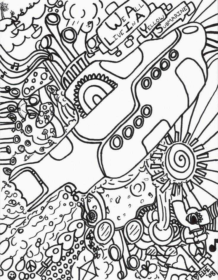 Beatles coloring pages printable