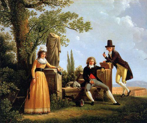 1791 Jacques Sablet - Family in Roman landscape