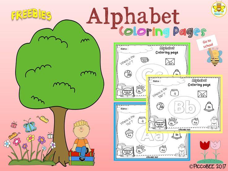 Freebie Alphabet Coloring Pages, Pre-K, Kindergarten, First Grade, Pre-Primer, Primer, 1st Grade