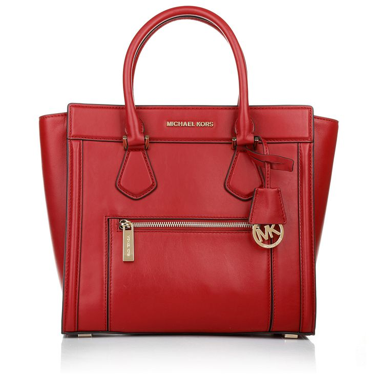 Color in Business with Michael Kors Colette Zip LG Satchel Chili bei Fashionette