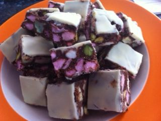 BAILEYS ROCKY ROAD FUDGE YIAH STYLE see recipe at Narelle Cambourn - Your Inspiration at Home https://www.facebook.com/pages/Narelle-Cambourn-Your-Inspiration-At-Home/164559163668177?ref=hl