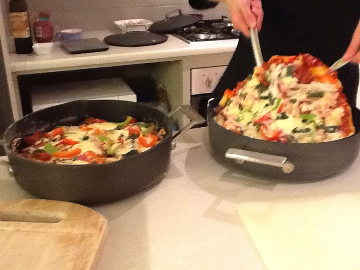 Stovetop pizza made in the Chefs Toolbox Sauté pan :-)