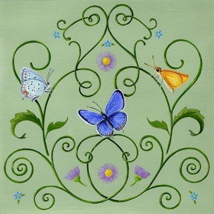 Aster Blue Butterfly by Jennifer Huber | Ruth Levison Design