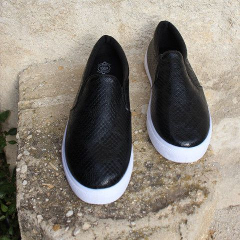 Black sneakers by EATHINI on Etsy