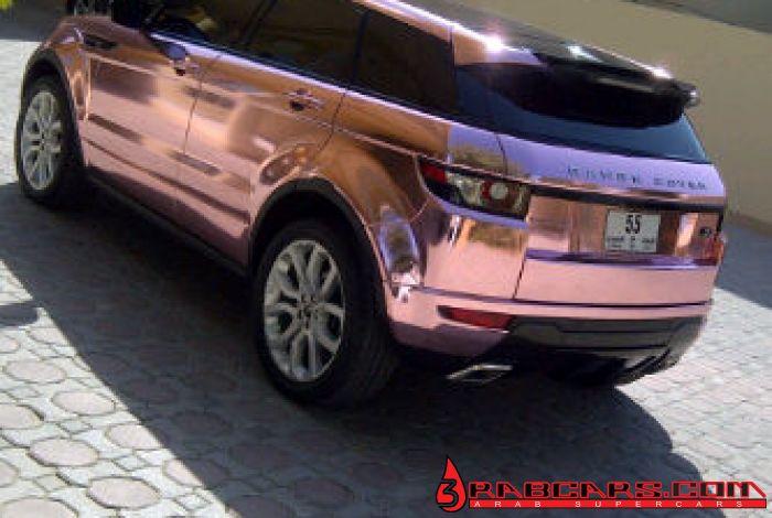 Pink Chrome Range Rover Evoque foiled in Diablo Private Foil