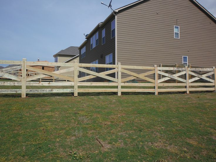 5 Rail Cross Buck Fence With Dado Posts Wood Fences In