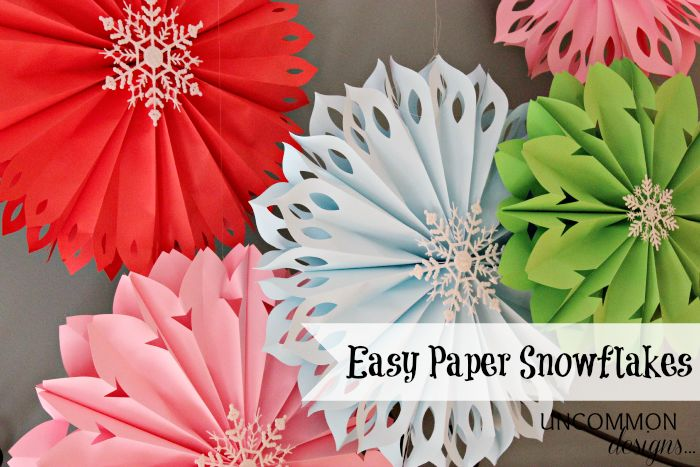 "paper snowflakes - love how the pastel shades are 'wintery' and not necessarily ""Christmas-y"""