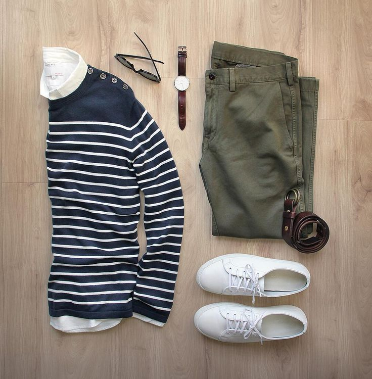 Outfit grid - Striped sweater
