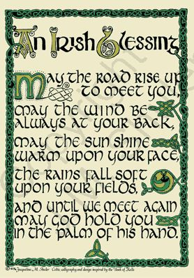 May God bless the Irish and good luck to all those who aren't ;-)