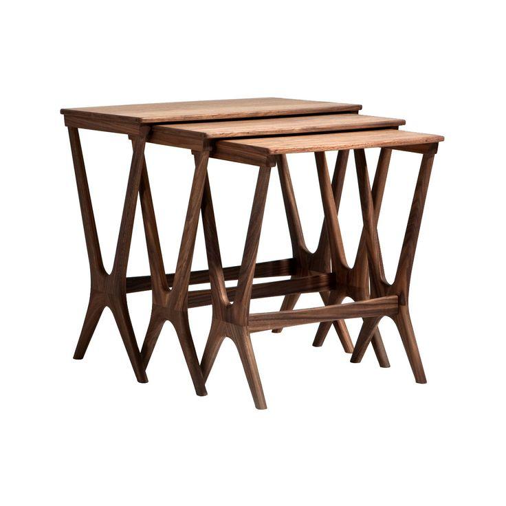 Walnut Nesting Tables - Set of 3 | dotandbo.com