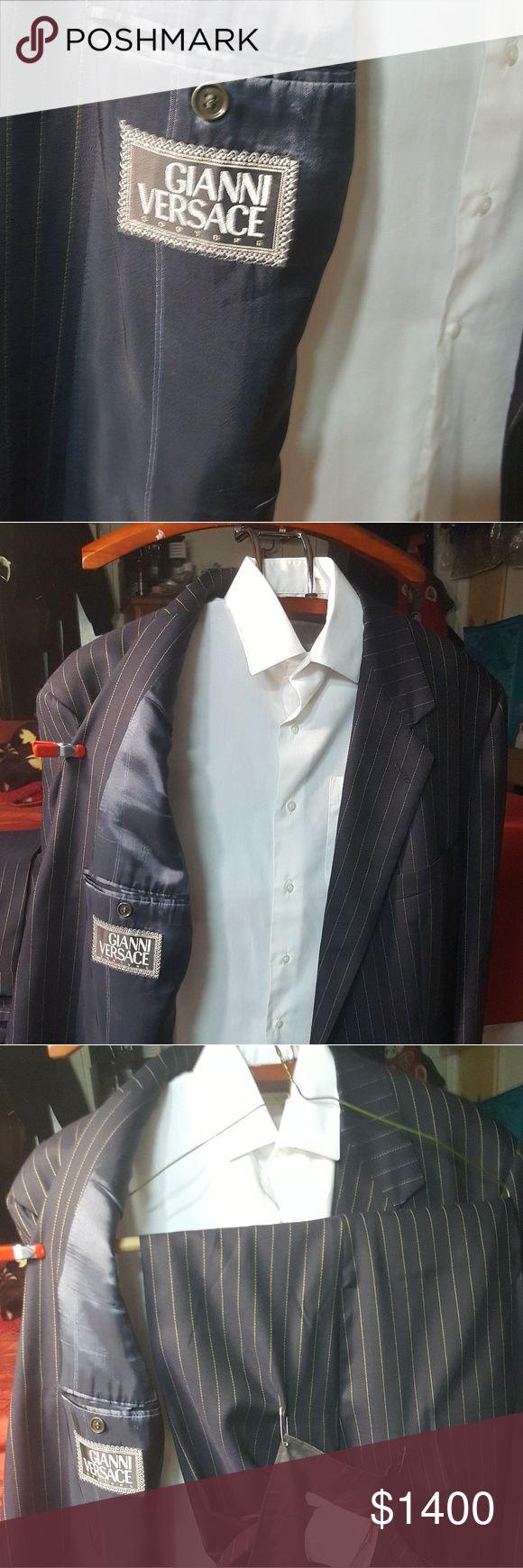 Gianni Versace pin stripe suit Men's authentic Gianni Versace pin stripe suit Versace Suits & Blazers Suits