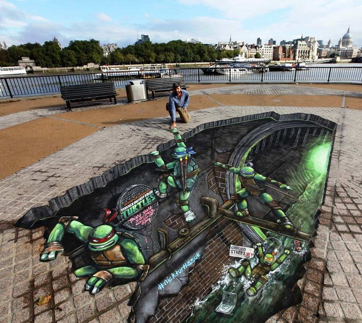 Optical Illusions Created by 3D Street Pavement Art - Tokyo Design Club