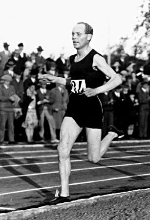 """1924: Paavo Nurmi, the """"Flying Finn,"""" wins Olympic gold medals in the 1,500 and 5,000 meters just an hour apart - and despite temps that climb above 100. These were the Games made famous by the movie, """"Chariots of Fire,"""" which won the Academy Award for best picture in 1982."""
