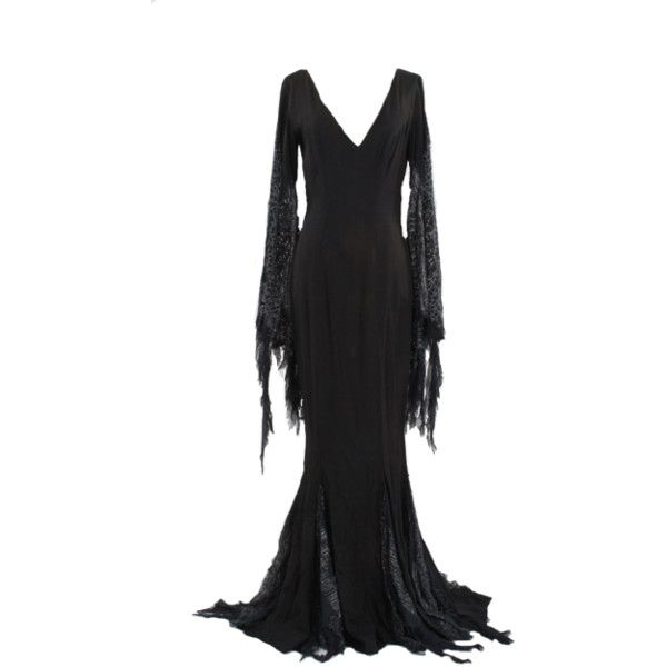 morticia addams dress - Download - 4shared - The-Helsing Hatter ❤ liked on Polyvore featuring dresses and gown