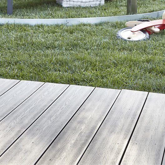 Planche composite Premium veinée, gris anthracite, L.300 x l.15 cm x Ep.21 mm