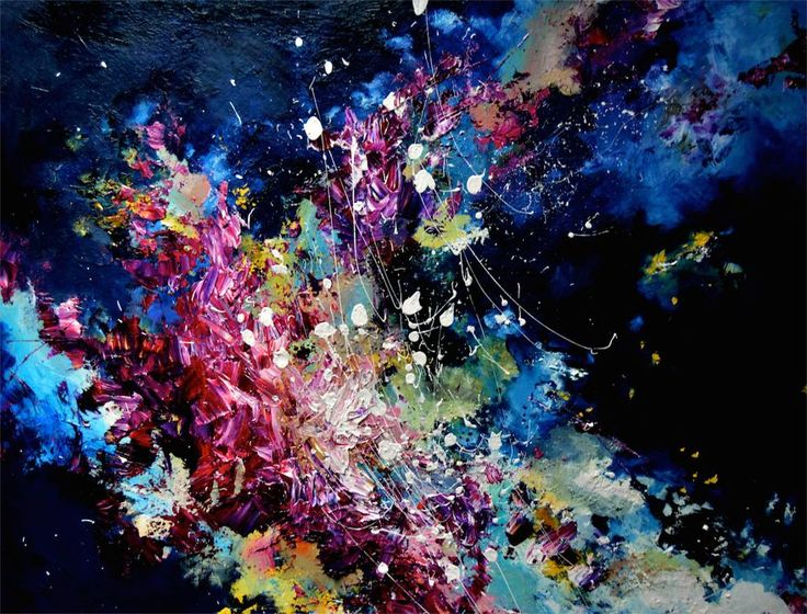 """I See Music Because I Have Synesthesia, So I Decided To Paint What I Hear """"Lucky by Radiohead"""" by Melissa McCracken"""