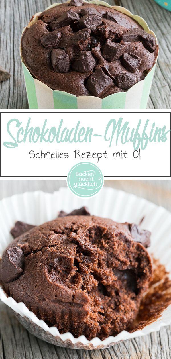 Einfache Saftige Schokomuffins Rezept Dessert Und Kuchen