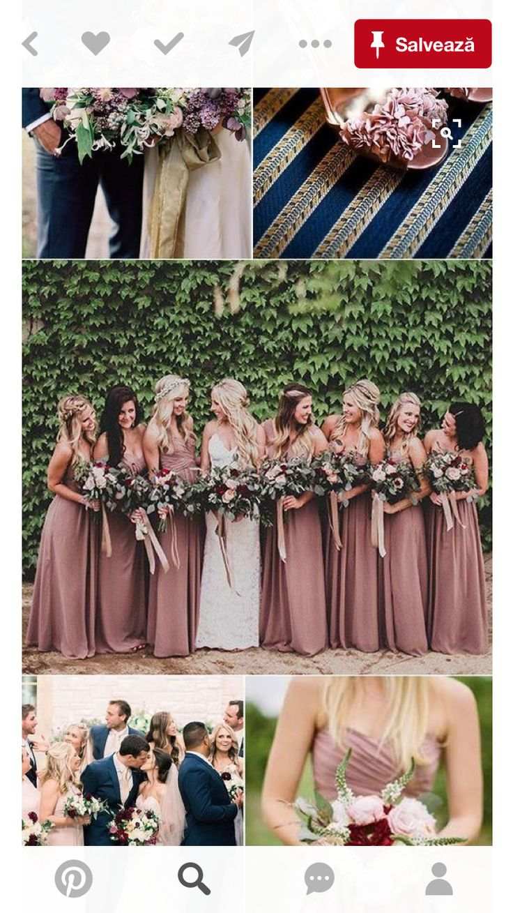 Wedding party colors