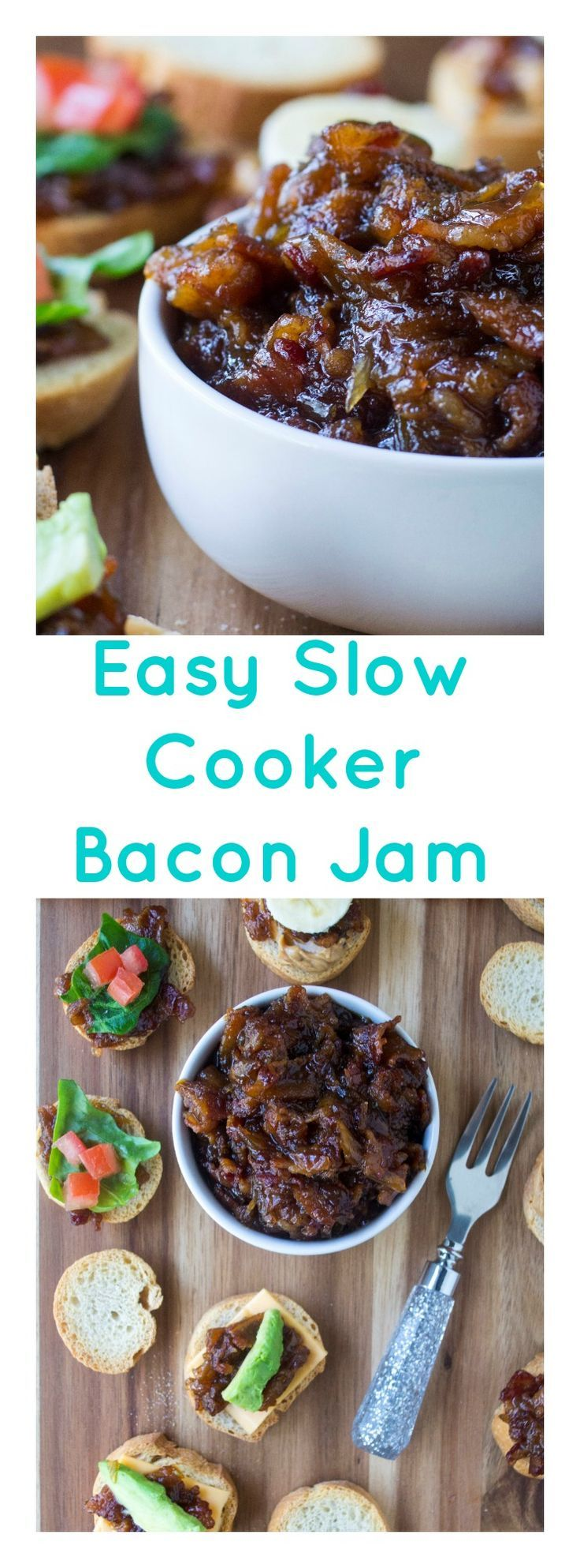 Bacon Jam is the perfect salty, sweet, savory condiment spread to add to appetizers, sandwiches and snacks alike. Made with coffee, bacon, brown sugar and maple syrup, this rich and amazing Bacon Jam recipe will change your life! | Pack Momma | https://www.packmomma.com #baconjam #bacon #gamedayfood #homemadejam #savory #baconappetizer #partyfood via @thepackmomma