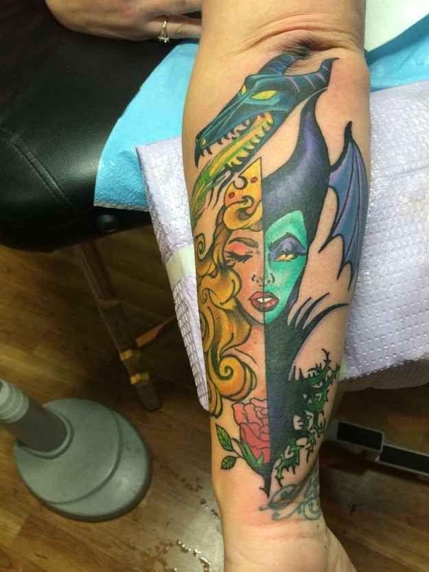 tatuajes peliculas bella durmiente