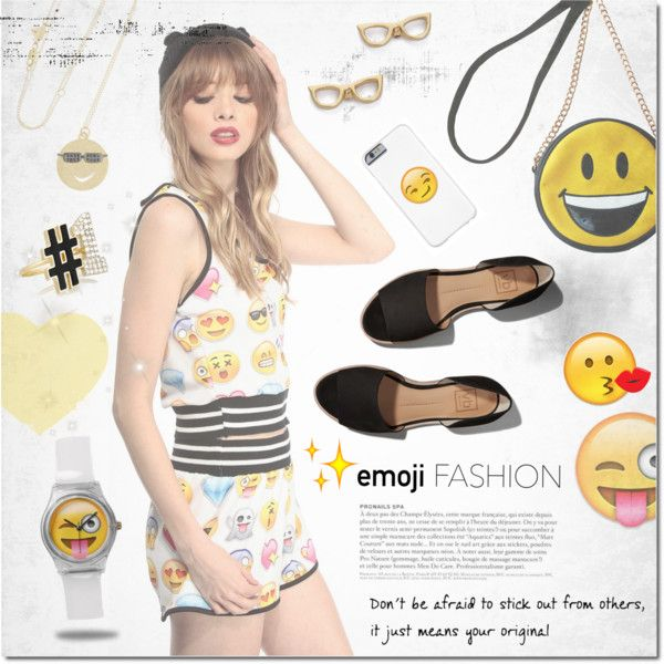 Emoji <3 by justlovedesign on Polyvore featuring Abercrombie & Fitch, OLIVIA MILLER, Alison Lou, Kate Spade and emojifashion