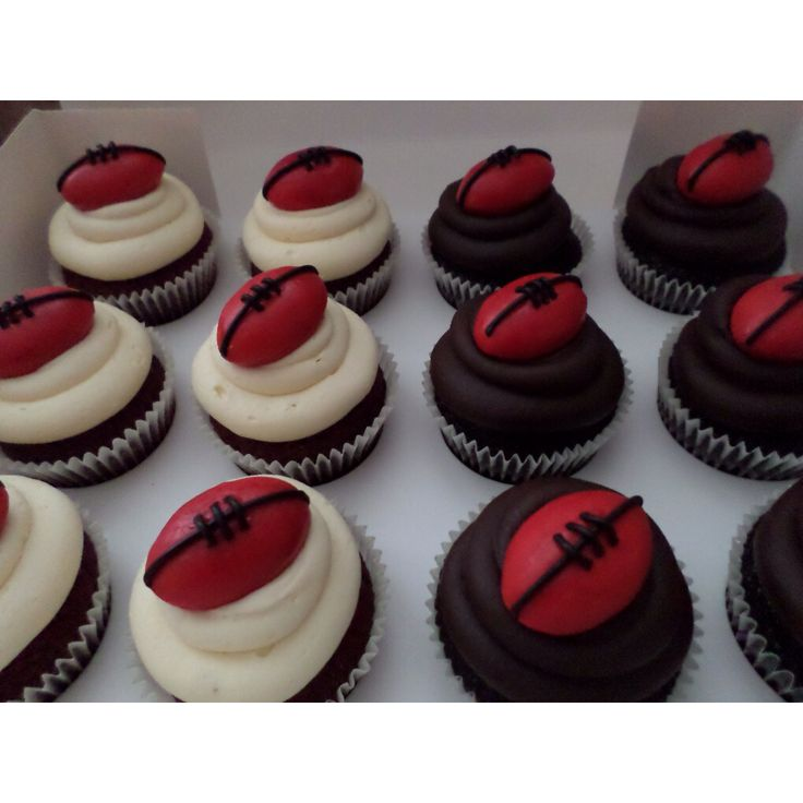 AFL Essendon football cupcakes created by Villa Chateau