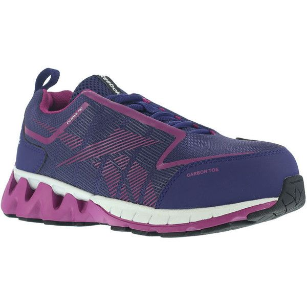 Reebok Work ZigWild TR2 Work Women's Purple Oxford (2,205 EGP) ❤ liked on Polyvore featuring shoes, oxfords, purple, wide width shoes, purple shoes, reebok, breathable shoes and wide fit shoes