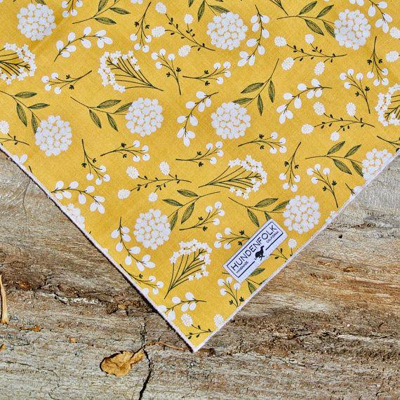 Dog Bandana Pastel Yellow