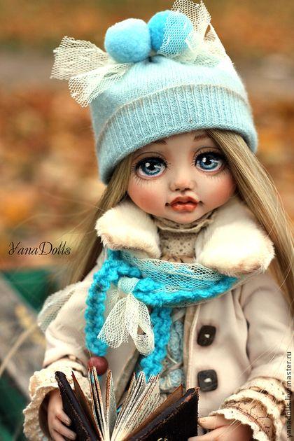 Стася - бирюзовый,кукла ручной работы,кукла в подарок,кукла интерьерная
