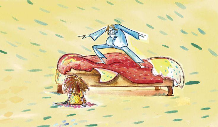 Ilustración libro ¡Vienen los ogros! Editorial Gerbera