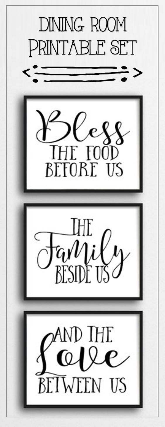 Bless the food before us, the family beside us, and the love between us. This is one of my favorite prayer quotes. ad #prayer #diningroom #decor #etsy