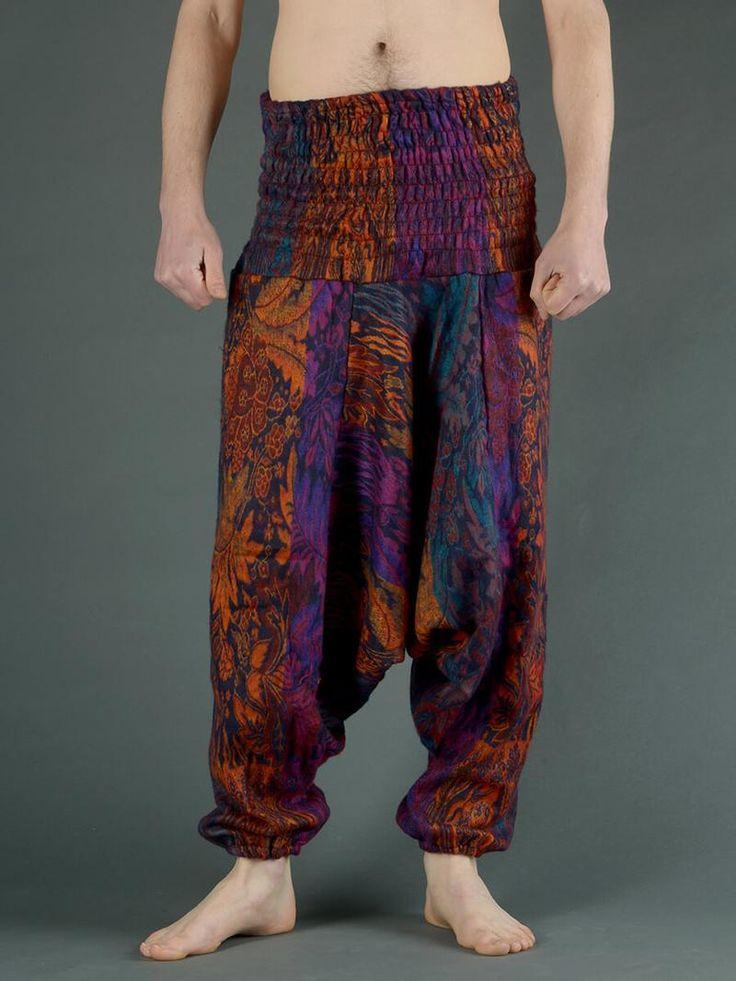 Sarouel laine imprimé fleurs indiennes (homme)