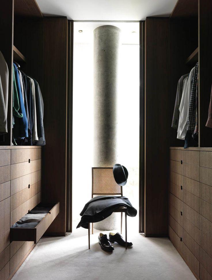 walk in robe designed by Yabu Pushelberg (photo by Jonny Valiant)