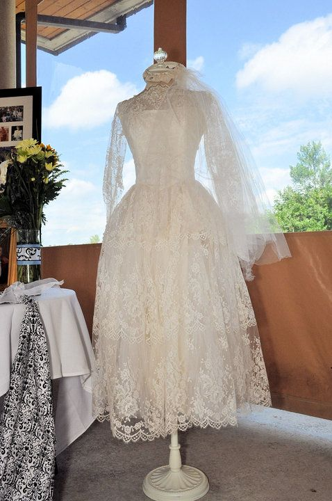 Original Wedding Gown Display At The Anniversary Party