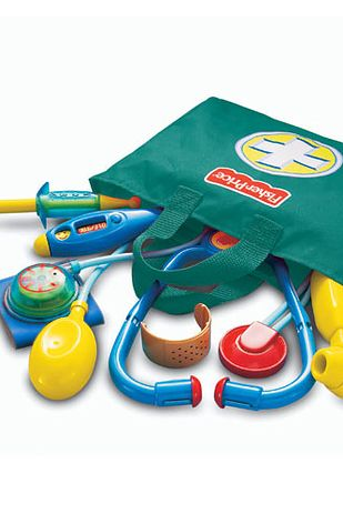 The Fisher Price doctor's set now comes in a tote bag. | Here's What 23 Of Your Childhood Toys Look Like Now
