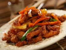 Gemarineerde kip mer groentjes en rijst