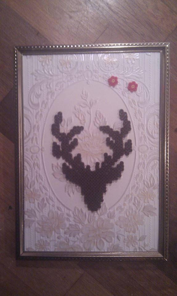 Framed Hama-deer