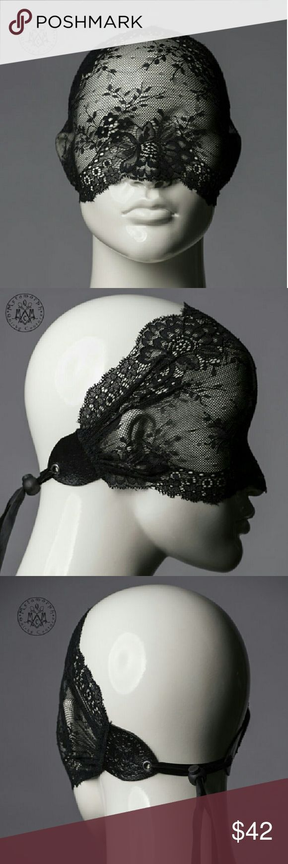 Halloween Black Lace Masquerade Mask Full/Half Get noticed incognito with this unique & versatile lace mask.   worn only once for masquerade party no tears/rips  handmade in Denmark/Europe highest quality lace mask found on market perfect for Halloween  Works as a full face veil, half face mask, or wide lace headband turban. You can see through the fabric well. Made of beautiful stretchy lace, lace is ruched and then thoroughly secured with leather. In the back the mask can be conveniently…