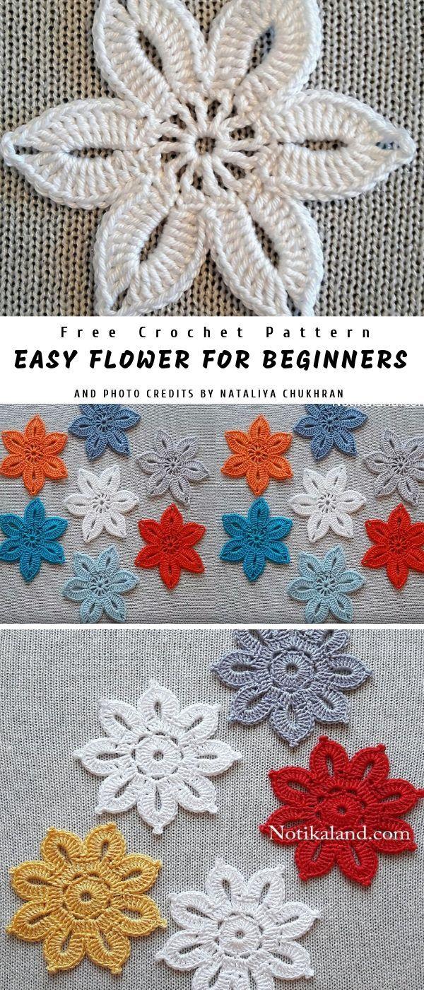 Easy Crochet Flower for Beginners