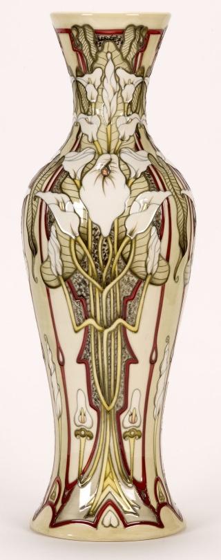 """Remember"" / Moorcroft Pottery / Designer: Sarah Brummell-BaileyArt Nouveau, Pottery Vases, Iris, Art Pottery, Fabulous Moorcroft, Pottery Designs, Design Studios, Moorcroft Pottery, Design Style"