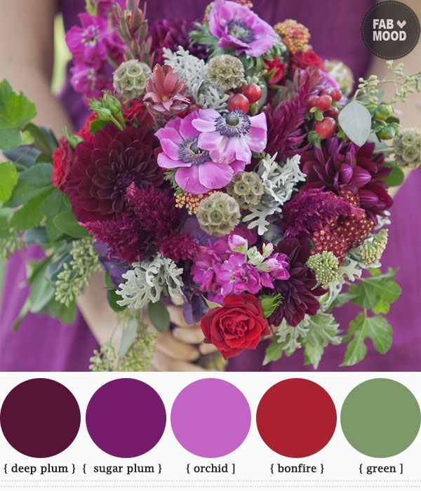 Purple Flowers For October Wedding : Best red purple wedding ideas on black